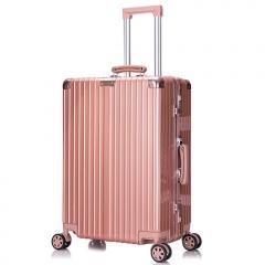 Coo's aluminum framed bar box female suitcase